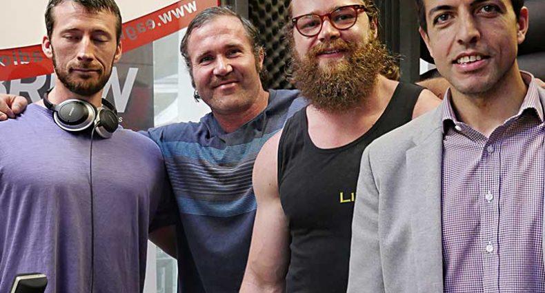 Under The Bar Podcast hosts Rawdon Dubois and Tom Hewett with seminar guests neuroscientist Luke Tulloch and Integrative GP Vinesh Singh